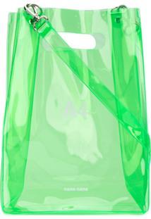 Nana-Nana Bolsa Tote Transparente - Verde