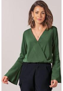 Blusa Com Manga Flare Verde