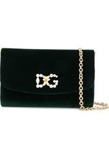 Dolce & Gabbana Bolsa Transversal Com Cristais - Verde