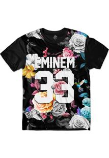 Camiseta Bsc Eminem 33 Hummingbird Dark Flowers Sublimada Preto