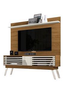 Rack Bancada Frizz E Painel Para Tv Lorenzo 1.8 Naturale/Off White - M