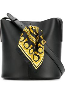 Versace Bolsa Saco De Couro 'Sash' - Preto