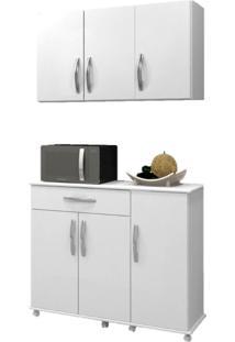 Cozinha Conjugada 2 Peças Parati Arte Móveis -Branco