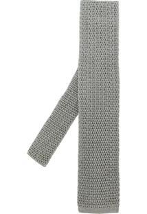 Tom Ford Gravata De Crochê De Seda - Grey