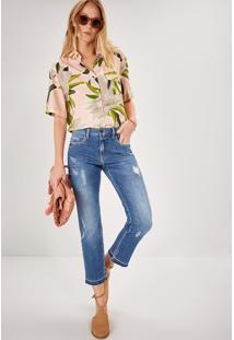 Calça Jeans Reta Cintura Média Premium Jeans