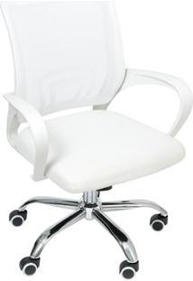 Cadeira De Escritã³Rio Tok- Branca- 95X59,5X49Cm-Or Design