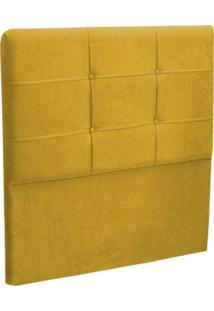 Cabeceira Solteiro Cama Box 90 Cm London Amarelo - Js Móveis
