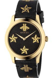 9b2010efef781 Relógio Digital Couro Gucci feminino