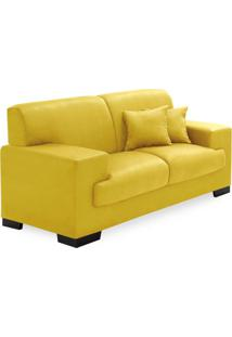 Sofá 2 Lugares Manuela Suede Amarelo