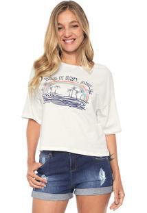 Camiseta Dzarm Arco-Íris Off-White