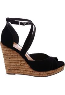 Sandália Anabela Curves Black | Schutz