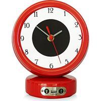 e0d62536a79 Relógio De Mesa Com Usb Lusbe
