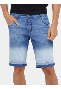 Bermuda Jeans Rock & Soda Degradê Indigo Masculina - Masculino