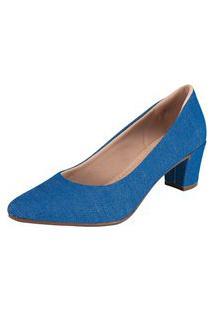 Scarpin Domidona Fashion Azul