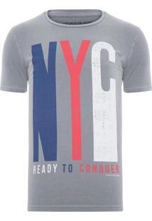 Camiseta Masculina Ready To Conquer - Cinza