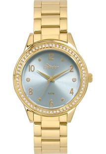 a0d8a38ed02 Okulos. Relógio Feminino Condor Analógico Com Cristais Swarovski  Co2036kui K4a Dourado