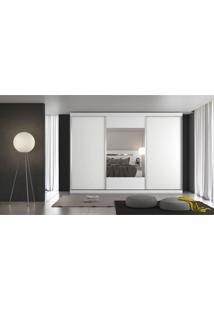 Guarda-Roupa Casal 3 Porta E 4 Gavetas Milano 1Pt Espelho Branco Acetinado