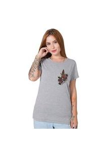 Camiseta Knife Butterfly Cinza Stoned