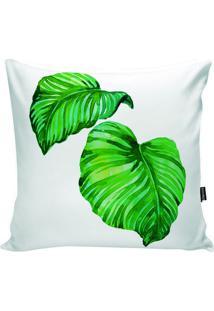 Capa De Almofada Foliage- Branca & Verde- 42X42Cm