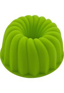 Forma Mimo Style De Silicone Verde Para Pudim Pequeno