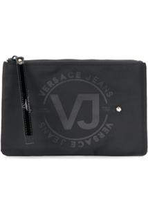 Versace Jeans Necessaire Com Logo - Preto