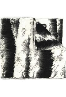 Moschino Cachecol De Tricô Com Padronagem - Preto