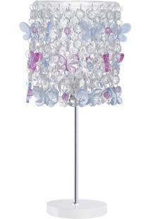 Abajur Infantil Carambola Butterfly 01 Rosa E Azul