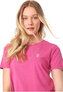 Blusa Calvin Klein Jeans Logo Rosa - Kanui