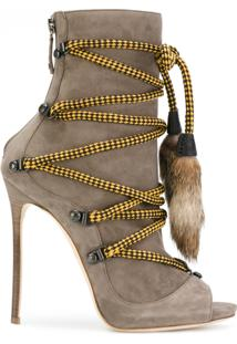 Dsquared2 Ankle Boot De Camurça - Nude & Neutrals