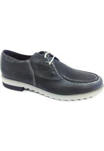 Sapato Casual Couro Ferracini Masculino - Masculino-Cinza
