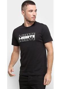 Camiseta Lacoste Masculina - Masculino-Preto