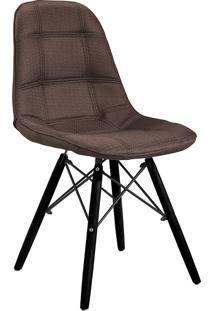 Cadeira Em Mdf/Mdp 1114-Or Design - Marrom / Preto