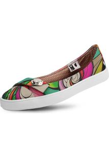 Sapatilha Usthemp Womanly Vegano Casual Art Ripple Nice Multicolorido