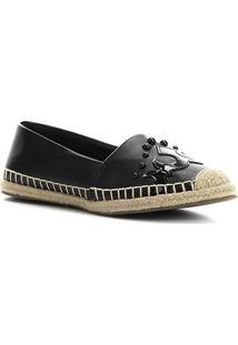 Sapatilha Shoestock Espadrille Western Feminina - Feminino-Preto