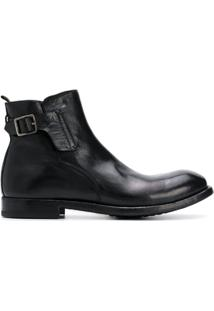 Officine Creative Ankle Boot Com Fivela - Preto