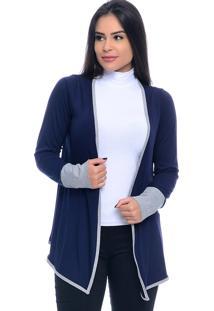Cardigan B'Bonnie Melinda Azul Marinho - Tricae