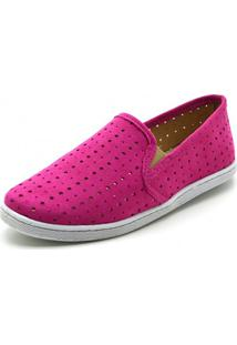 Tênis Casual Slip On Gisela Costa Pink