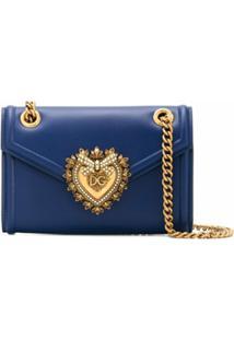 Dolce & Gabbana Bolsa Tiracolo Devotion Mini - Azul
