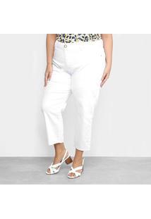 Calça Sarja Xtra Charm Plus Size Cropped Feminina - Feminino