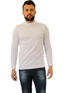 Camiseta Versatti Cacharel Gola Alta Fram Branco