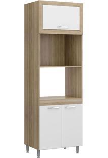 Módulo Para Forno 3 Portas Toscana Argila E Branco-Texturizado Multimóveis