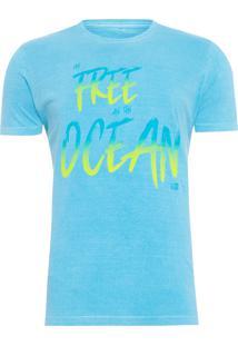 Camiseta Masculina Stone Ocean - Azul