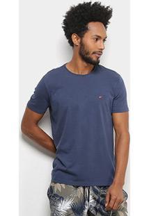 Camiseta Ellus Básica Masculina - Masculino-Marinho