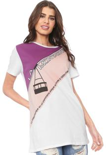 Camiseta Lez A Lez La Montagne Branca/Rosa - Kanui