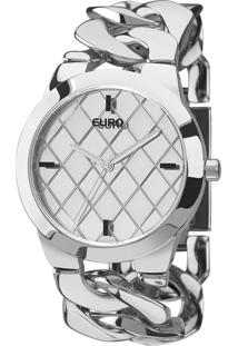 Relógio Euro Feminino Coleção Braceletes Eu2033Al/3K - Prata