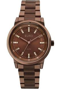 Relógio Feminino Euro Eu2036Ylj/4M - Unissex-Marrom