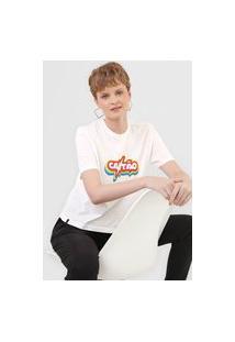 Camiseta Cantão Box Rainbow Branca