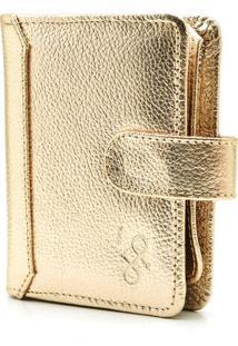 Carteira De Couro Hendy Bag Dourada