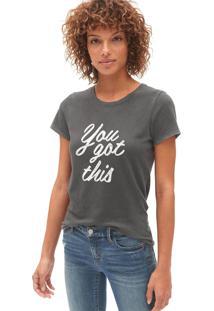 Camiseta Gap Lettering Verde - Verde - Feminino - Dafiti