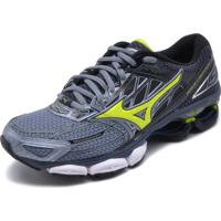 Tênis Mizuno Wave Creation 19 Prata Verde e773d80014e92